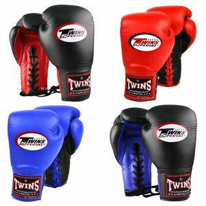 Twins Lace Up Competition Boxing Gloves Adult Muay Thai Sparring Gloves 8oz 10oz