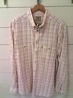 Beretta Womens Plaid Long sleeve Button Down Shirt Multicolor Size Large