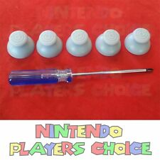 5 GRAY NINTENDO GAMECUBE CONTROLLER JOYSTICK CAPS + TRI WING SCREWDRIVER