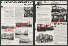 Dt. Reichsbahn Linke-Hofmann-Werke Breslau Wrocław Dessauer Waggonfabrik AG 1935