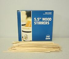 "1000 WOOD COFFEE STIRRERS 5.5"" STIR WOODEN CRAFT POPSICLE CUPCAKE STICKS"