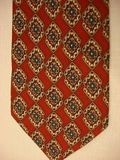 TODAY'S MAN Silk Neck Tie - RED with Multi-color overlapping diamonds pattern
