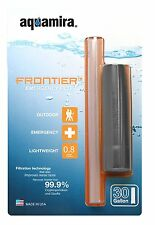 Aquamira Frontier Emergency Water Filter System Straw 3 Pack