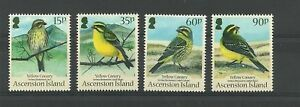 ASCENSION -2010 BIRDS CANARIES NEW ISSUE SET-MNH