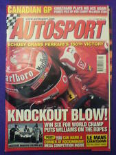 AUTOSPORT - KNOCKOUT BLOW - 13 June 2002 vol 167 # 11