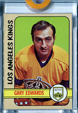 1972-73 Topps GARY EDWARDS #151 Vault 1/1 Complete Proof Blank Back LA Kings