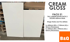 B&Q Cream Gloss Replacement Clad on Wall Panel 290mm Wide X 720mm High