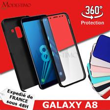 Samsung A8 Coque de protection Intégrale Avant et Arrière 360°, Couleurs Divers
