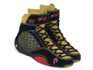 New Men's Piloti LMP Hi-Cut Driving Suede Leather Boots Shoes Size 7-15 FIA SFI