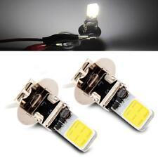 2x6W H3 Lampadina Fanalino 2 LED COB Bianco DC12V da Auto Ricambio