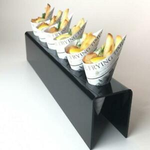 Newsprint Paper Serving Cones Disposable Compostable Bamboo Food Party Snacks