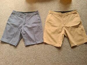 Bottoms Lab Shorts Genuine x2 Grey & Chino Elastic Stretchy Size Small