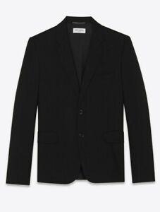 Saint Laurent Paris Wool Gabardine Blazer - Black - Size 50 // SLP Hedi Slimane