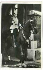 LIFEGUARDSMAN, WHITEHALL, HORSE, SENT 3 HALFPENCE LONDON TO HOLLAND RPPC 1930
