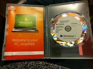 Windows 7 Home Premium 64 bit software and manual