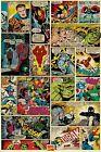 MARVEL COMIC BOOK ART POSTER ~ CLASSIC PANELS 24x36 X-Men Spider-Man Universe