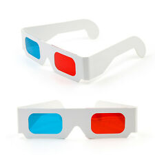 1 Pair White Frame Red Blue 3D Glasses For Dimensional Anaglyph Movie_Game