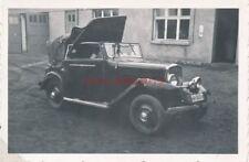3 x Foto, Pkw mit Kotflügelschaden in der Werkstatt, Oldtimer (N)19477