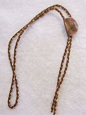 CLASSIC PRE-OWNED BOLO TIE SOUTHWEST POLISHED STONE ROCK MINERALS GEOLOGY J PIN