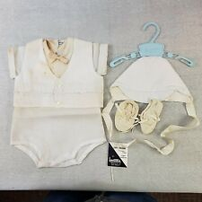Madonna Boys Christening Set Vintage White Suit Shorts Cap Shoes NIB* No Size
