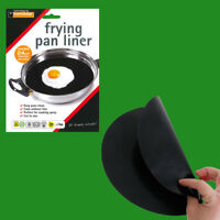 10x 24cm Reusable Non-Stick Black Frying Pan Liner for Healthy Cooking