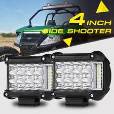 "4"" 95W Side Shooter Tri-Row CREE LED Light Pods Offroad ATV UTV For Arctic Cat 3"