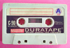 MC Musicassetta DURATAPE C-90 Mallory c90 Vintage Compact Cassette tape USATA