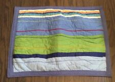 Pottery Barn Kids Standard Pillow Sham Striped Blues Green Red