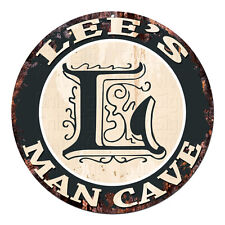 CPMC-0123 LEE'S MAN CAVE Rustic Chic Tin Sign Man Cave Decor Gift Ideas
