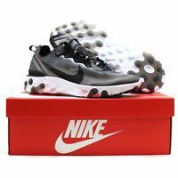Nike React Element 87 Men's Size 15 Anthracite Black Shoes AQ1090-001 NIB $160