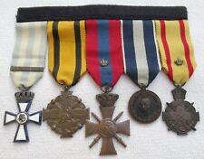 Orden 2. WK GRIECHENLAND ORDENSSPANGE mit 5 AUSZEICHNUNGEN Medaillen Rar !