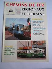 Chemins de fer régionaux et urbains 247 1995 tramways AMIENS BELFORT BORT AURILL