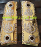 Mexican eagle 1911 Grips cachas Metal GRIPS Full Size 45 Commander Gold Nickel