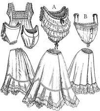 Sewing pattern women's Edwardian era underwear camisoles slips TVE02 Downton