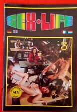 SEX + LIFE N° 3 -  VERLAG 1980  -  ADULT MAGAZINE PORNOGRAPHY  EROTIK VINTAGE