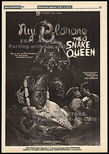 NYI BLORONG: THE SNAKE QUEEN__Original 1982 Trade AD promo / poster__BARRY PRIMA
