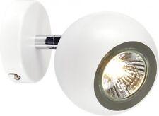 SLV LIGHT EYE 1 GU10 Wand- und Deckenleuchte, weiss/ chrom, GU10, max. 50W