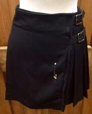 NWOT Burberry London Black Wool Kilt Skirt, US8, UK10