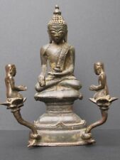 Bouddha Shan et ses Orants en Bronze Birmanie