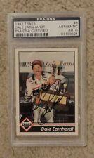 Dale Earnhardt SR. 1992 Traks Racing Card Signed PSA/DNA certified