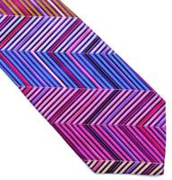 DUCHAMP LONDON, STUNNING SPECIAL MULTICOLOR 'CHEVRON STRIPE' TIE, FREEPOST