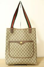 Authentic Gucci  Brown PVC Tote Bag #6621