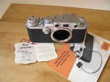 Leica Iiif Red Dial IiifRd Film Camera *Original Leica Inspection Hang Tag*