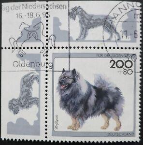 Bundesrepublik BRD 1995 Ecke 1 Mi 1801, Hunde, gestempelt