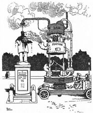 HEATH ROBINSON.Machine to express criticism of statues.Tar & Feathers.SMALL 1935