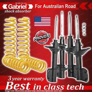 4 x Raised Gabriel Shock + Coil Spring for Subaru Impreza incl WRX GC8 Sedan