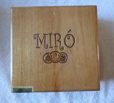 MIRO ROBUSTOS  WOOD CIGAR BOX - NICE - BEAUTIFUL !!!