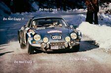 Jean-Claude Andruet Alpine-Renault A110 1800 Monte Carlo Rally 1973 Photograph 1