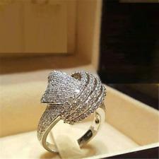 3ct Round Diamond Engagement Ring 14k White Gold