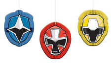 Power Rangers Party Supplies HONEYCOMB DECORATIONS Pack Of 3 Genuine Licensed